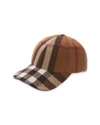 Burberry Check Wool Baseball Cap