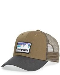 Patagonia Shop Sticker Trucker Hat Black