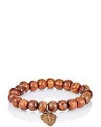 Miracle Icons Beaded Charm Bracelet Dark Brown