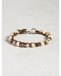 John Varvatos Bone African Trade Bead Bracelet