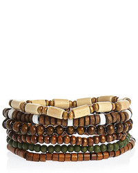 River Island Brown Beaded Bracelets Pack