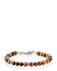 Caputo Co Tigers Eye Bead Bracelet Nude