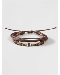 Topman Coco Bead And Fabric Bracelet