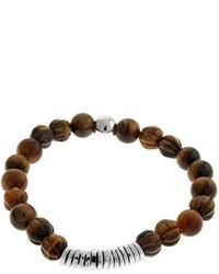 Disc round medium tiger eye beaded bracelet medium 225619