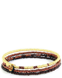 Domo Beads Memory Bracelet Gold Copper Chocolate Ombr