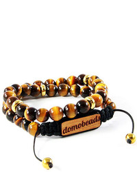 Domo beads retractable wrap bracelet tiger eye medium 270294