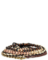River Island Ecru Beaded Bracelets Pack