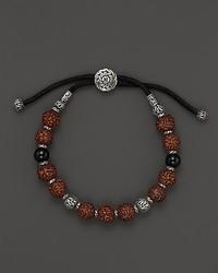 John Hardy Classic Silver Batu Onyx Rudraksha Beaded Bracelet