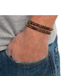Max Reed Multi Strap Leather Bead Bracelet