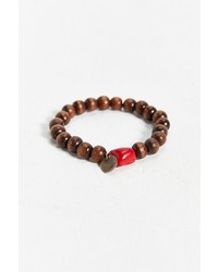 Profound Sthetic Wood Bead Bracelet