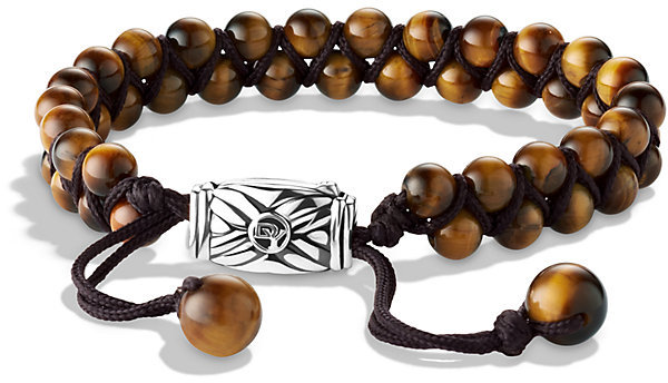 David Yurman Spiritual Beads Two Row Bracelet With Tigers Eye