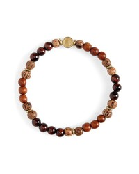 Caputo & Co Stone Wood Bead Bracelet
