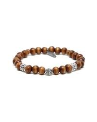 Mr. Ettika Wood Brass Bead Bracelet