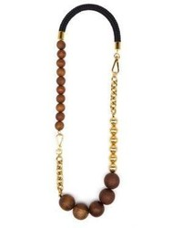 Beaded wood necklace medium 821678