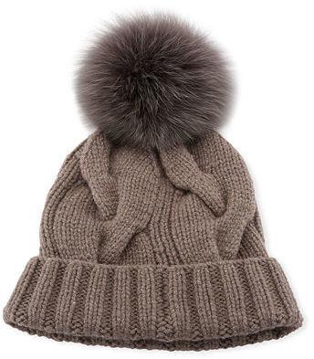 Loro Piana Baby Cashmere Courchevel Beanie Hat