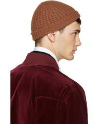 Haider Ackermann Brown Wool Knit Beanie