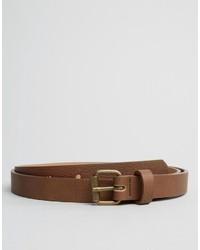 Asos Super Skinny Belt In Brown