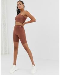 ASOS DESIGN Legging Shorts In Jersey Crinkle Co Ord