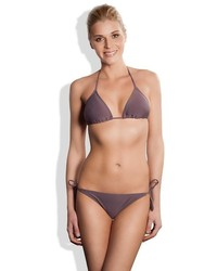 Meli Beach Swimwear Classic Side Tie Cheeky Bikini Bottom Stone