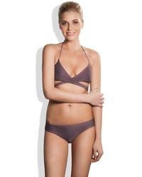 Meli Beach Swimwear Island Wrap Bikini Top Stone