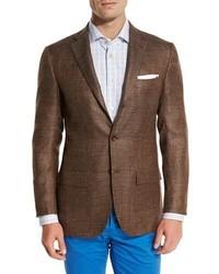 Cashmere blend three button sport coat brown medium 1246565