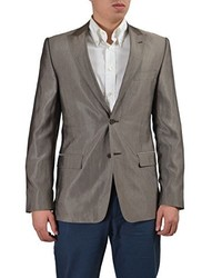 Versace Collection Wool Brown Two Buttons Blazer Us 38 It 48