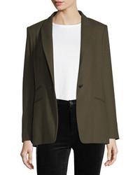 Rag & Bone Duke Wool Blend One Button Tailored Blazer