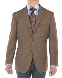 LN LUCIANO NATAZZI Luciano Natazzi Two Button 160s Wool Blazer Working Buttonholes Jacket