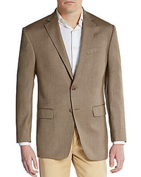 Regular fit herringbone silk wool sportcoat medium 285738
