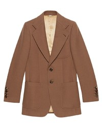 Gucci Slim Fit Buttoned Blazer Jacket