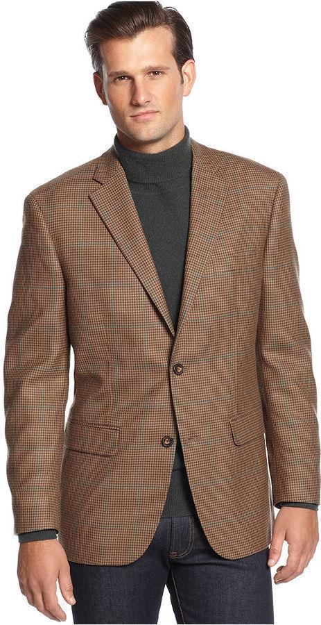 Brown Sports Jacket Jacket Brown Houndstooth