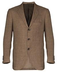 Kiton Textured Single Breasted Blazer