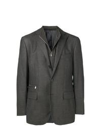 Corneliani Zip Detail Fitted Blazer