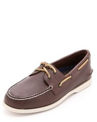 Sperry Ao Classic Boat Shoes On White Sole