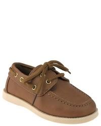 Toddler Boys Boat Shoes Tan