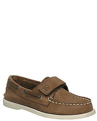 Sperry Top Sider Ao Boys Hook And Loop Boat Shoes