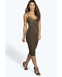 Boohoo Karen Slinky Bodycon Midi Dress