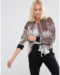 Velvet bomber jacket medium 823808