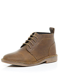 River Island Boys Brown Lace Up Boots