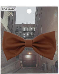 Topman Leather Look Bow Tie Badge