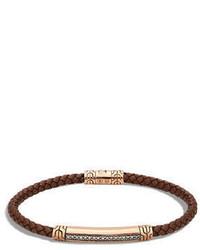 4mm bronze classic chain lava station bracelet with diamonds medium 749432