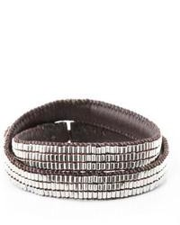 Love Heals Beaded Leather Wrap