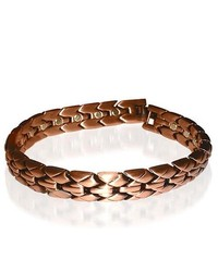 Gem Avenue Copper Clad Magnetic Link Ladies 035 Wide Bracelet 875 Long With Fold Over Clasps