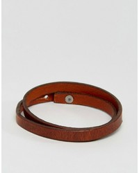 Jack and Jones Jack Jones Jacbrian Layered Bracelet In Brown