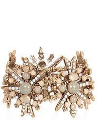 River Island Light Brown Gemstone Stretch Bracelet