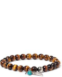 Sterling silver tigers eye and turquoise bracelet medium 3994922