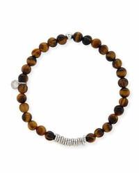 Tateossian Tiger Eye Bead Bracelet