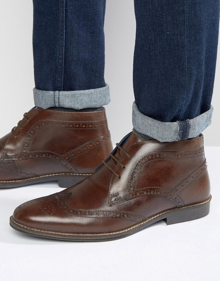 2ab2d2adf2e $60, Red Tape Brogue Ankle Boots