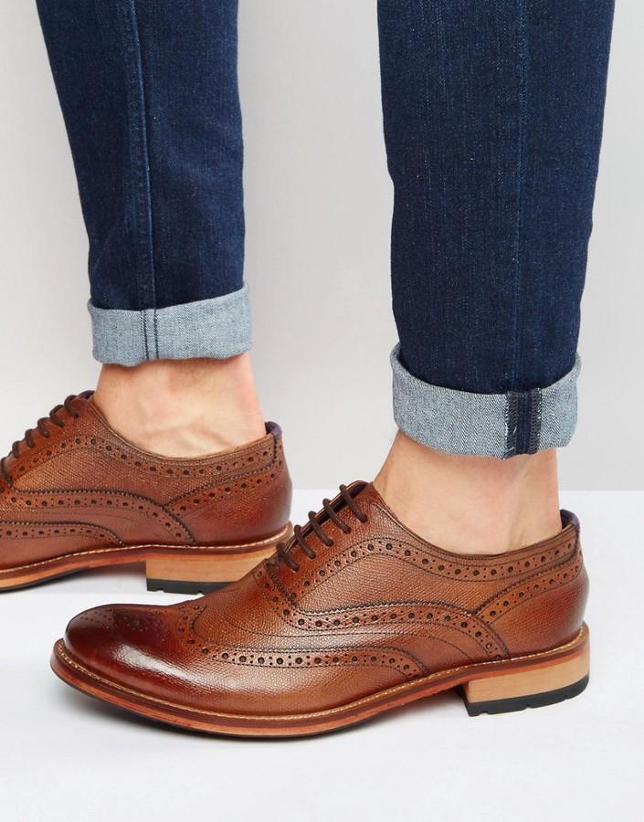 64fa65ec28ea ... Brown Brogues Ted Baker Guri Brogue Shoes ...