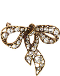 Marc Jacobs Crystal Embellished Bow Brooch